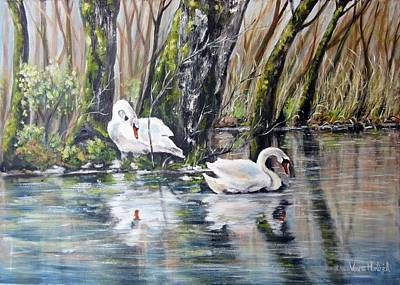 Painting - Love Lake by Vesna Martinjak