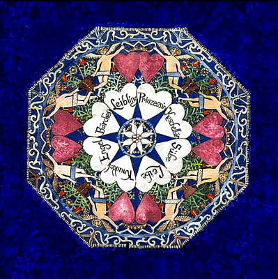 Fraktur Painting - Love-leibe by Joan Shaver