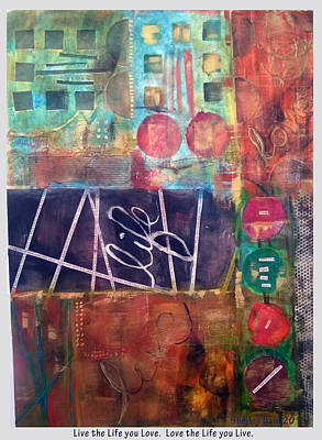 Mixed Media - Love Life by Shelley Bain