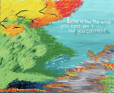 Love Painting - Love Like The Wind by Cyrionna The Cyerial Artist