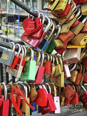 Photograph - Love Locks 1 by Randall Weidner