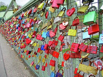 Photograph - Love Locks 2 by Randall Weidner