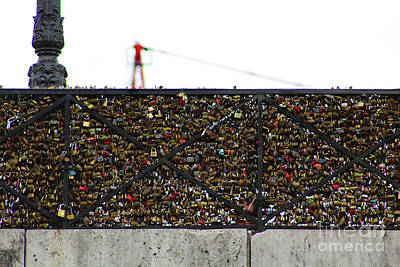 Photograph - Love Locks Bridge Ile De Cite Paris by D Renee Wilson