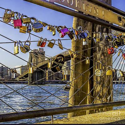 Photograph - Love Locks Brooklyn by Nick Zelinsky