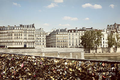 Photograph - Love Locks In Paris by Juli Scalzi