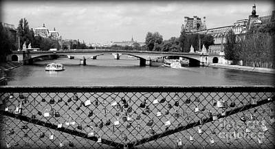 Photograph - Love Locks Over The Seine by Carol Groenen