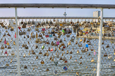 Love Locks Print by Patricia Hofmeester