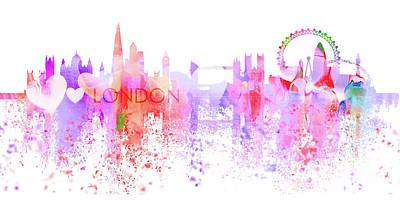 London Skyline Digital Art - Love London by J Biggadike