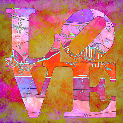 Love Long Island V2 Art Print by Brandi Fitzgerald