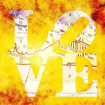 Love Long Island V3 Art Print by Brandi Fitzgerald