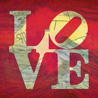 Love Long Island V5 Art Print by Brandi Fitzgerald