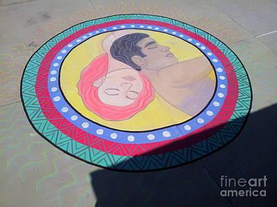 Mixed Media - Love Mandala by Kristen R Kennedy