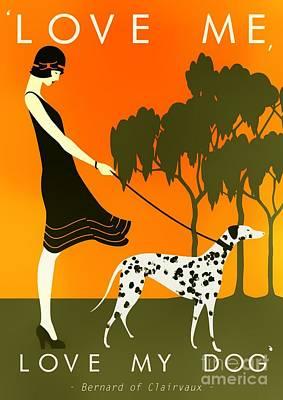 Love Me Love My Dog - 1920s Art Deco Poster Art Print