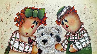 Wilderness Camping - Love Me, Love My Teddy Bear Acrylic Painting by Cindy Treger