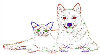 Digital Art - Love Me. Pet Series by Rafael Salazar