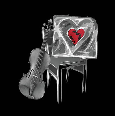 Love Melody Art Print by Manfred Lutzius