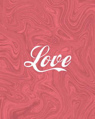 Mixed Media Royalty Free Images - Love - Minimalist Print - Red Royalty-Free Image by Studio Grafiikka