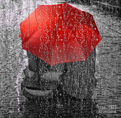 Wet Photograph - Love by Mo T
