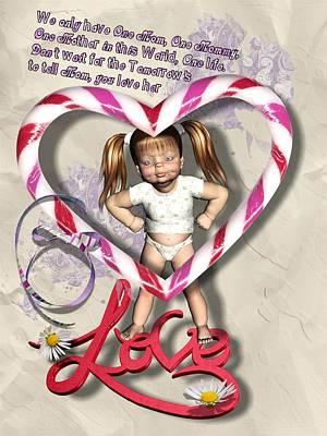 Digital Art - Love Mom by Larisa Isaeva