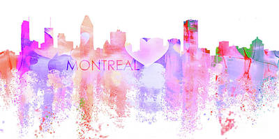 Montreal Cityscapes Digital Art - Love Montreal by J Biggadike