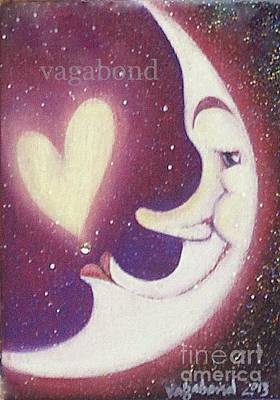 Painting - Love Moon Right by Suzn Art Memorial