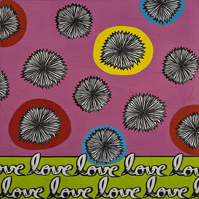 Art Print featuring the mixed media Love Multiplied by Gloria Rothrock