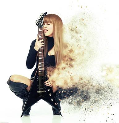Rock Music Art Photograph - Love Music by Nichola Denny