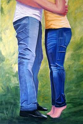 Painting - Love My Blue Jeans by Rosie Sherman