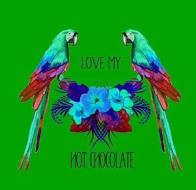 Digital Art - Love My Hot Chocolate by Ericamaxine Price
