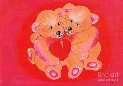 Mixed Media - Love My Valentine's by Teresa White