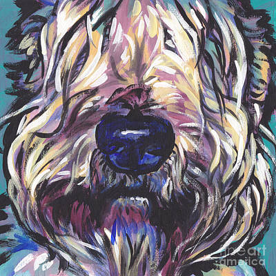 Puppy Painting - Love My Wheatie by Lea S