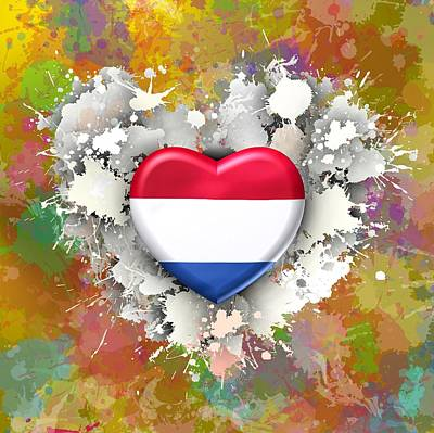 Nederland Digital Art - Love Netherlands by Alberto RuiZ