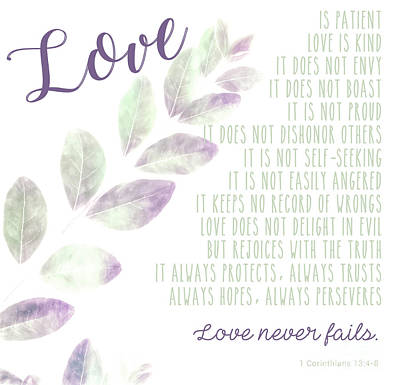 Photograph - Love Never Fails by Andrea Anderegg