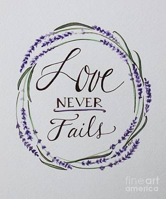 Painting - Love Never Fails by Elizabeth Robinette Tyndall