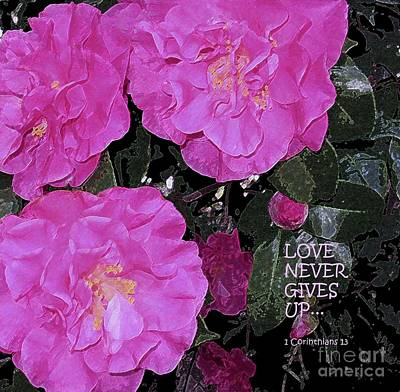 Painting - Love Never Gives Up by Hazel Holland