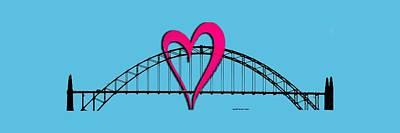 Digital Art - Love Newport by Bill Posner