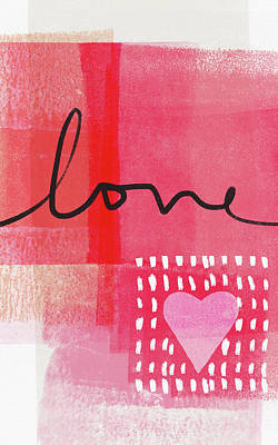 Heart Mixed Media - Love Notes- Art By Linda Woods by Linda Woods