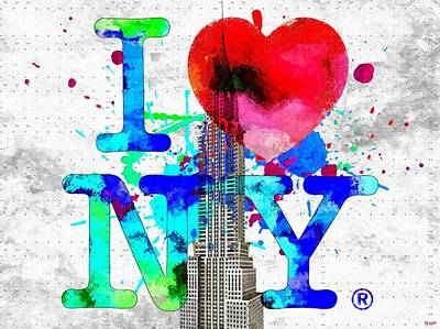 Chrysler Building Mixed Media - Love Ny by Daniel Janda