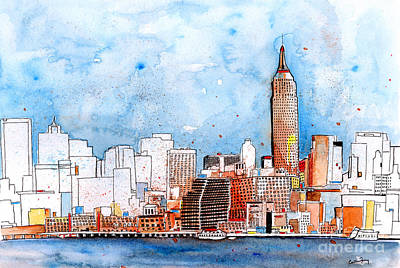 City And Colour Painting - Love Nyc by Callan Percy