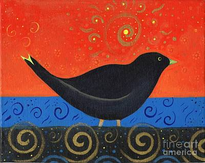 Starlings Painting - Love Of Birds by Helena Tiainen