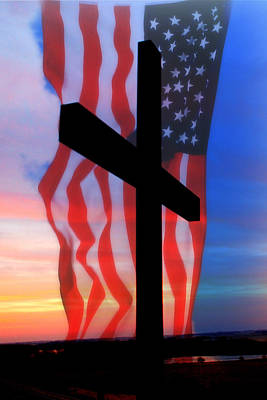 Love Of God And Country Art Print by Erin Theisen