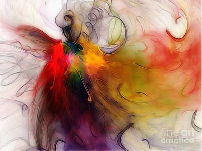 Abstract Expressionism Wall Art - Digital Art - Love Of Liberty by Karin Kuhlmann
