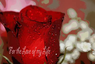 Love Of My Life Art Print by Dianne Cowen