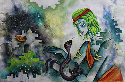 Painting - Love Of Shiva by Rohan Sandhir