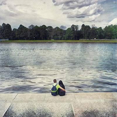 Young Woman Wall Art - Photograph - Loving Couple  by Oleg Shagapov