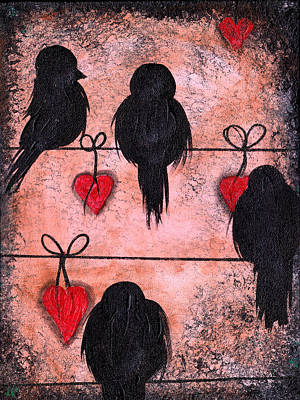 Painting - Love On A Wire by  Abril Andrade Griffith