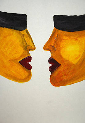 Love-on-line Art Print by Irum Iftikhar