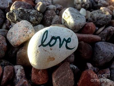 Love On Stone Art Print by Noa Yerushalmi