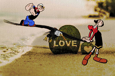 Photograph - Love On The Beach by Ericamaxine Price