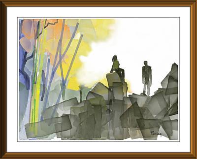 Digital Art - Love On The Rocks by Parag Pendharkar